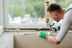 Sealing window gaps